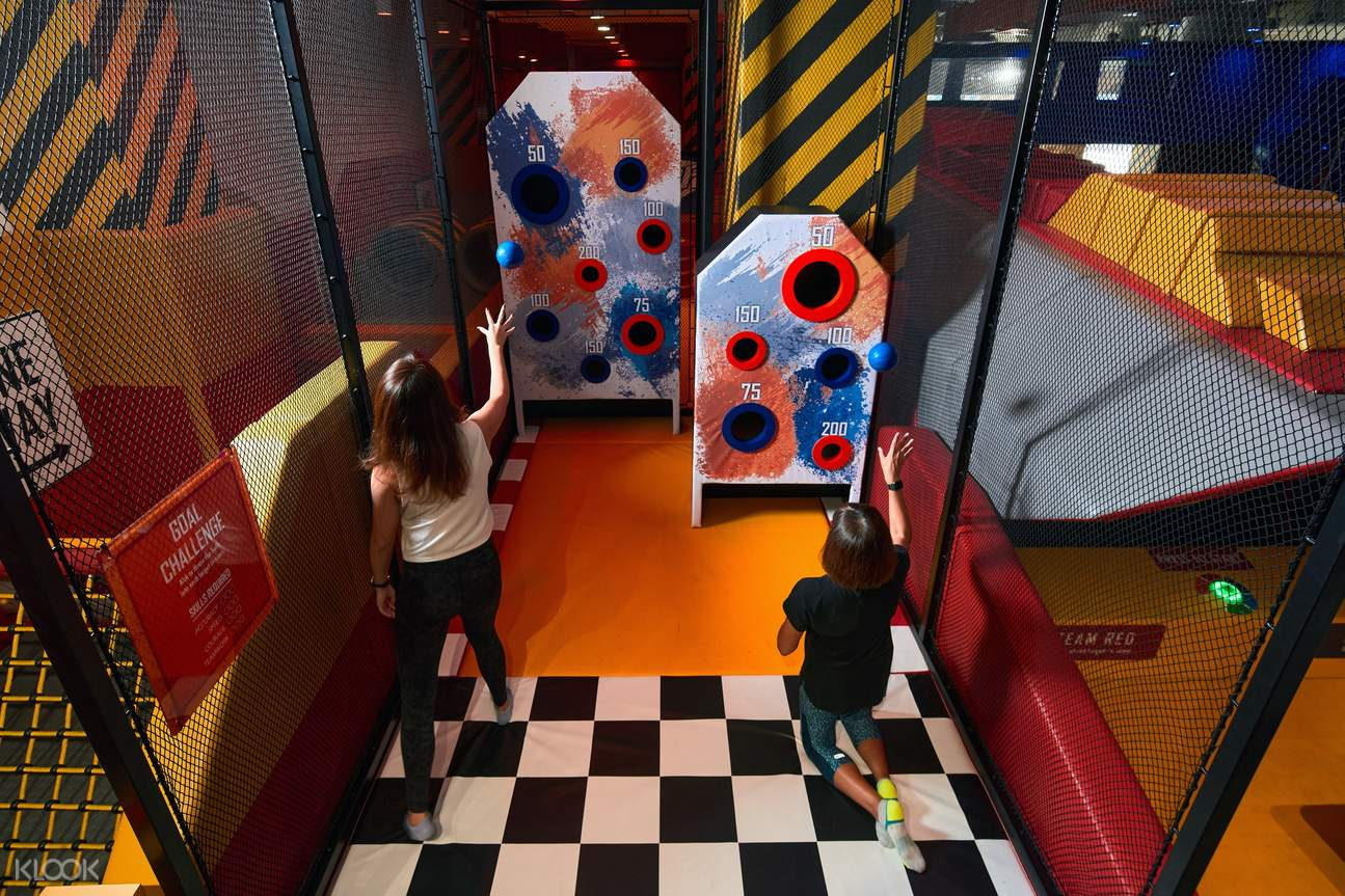 the Challenge Zone in NERF Action Xperience Singapore